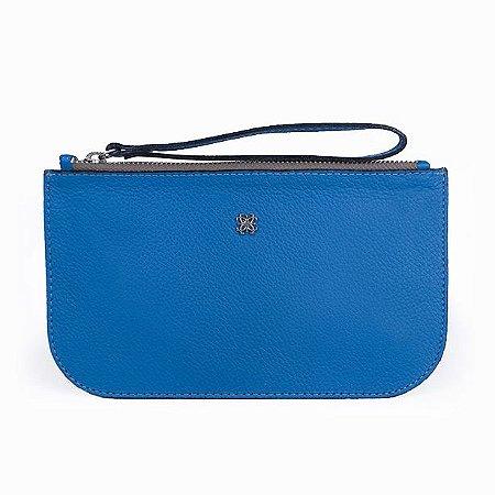 New Pouch Plus Balaia em couro Azul Cobalto