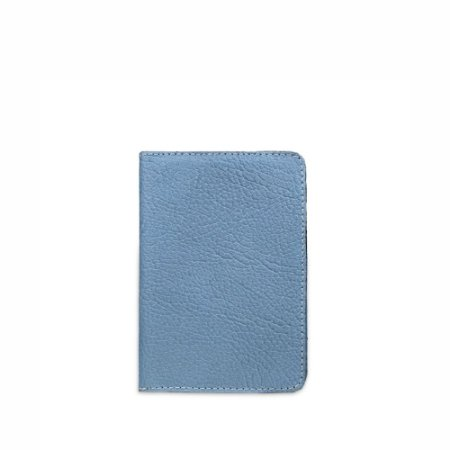 Porta Passaporte Balaia em couro Azul Claro