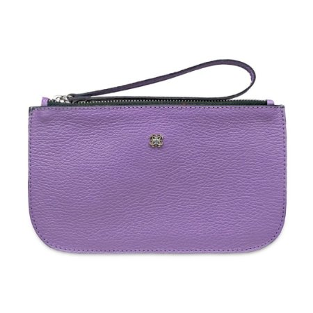 New Pouch Plus Balaia em Couro Floater Lilas