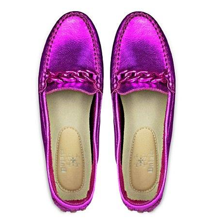 Mocassim Balaia MOD432 em couro Cristal Pink