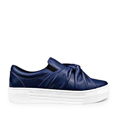 Sneaker Balaia MOD429 em couro Marinho