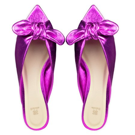 Rasteira Balaia MOD440 em couro Cristal Pink