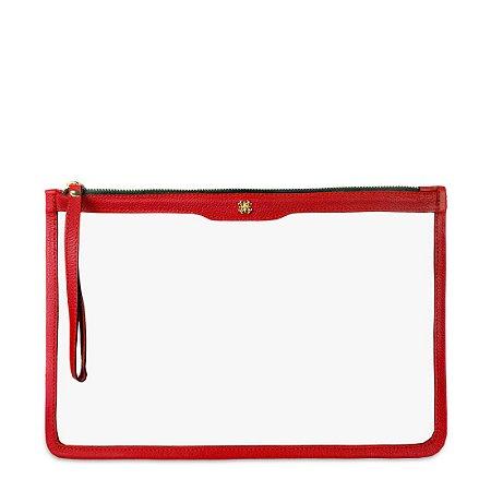 Porta Folha A4 em couro Vermelho