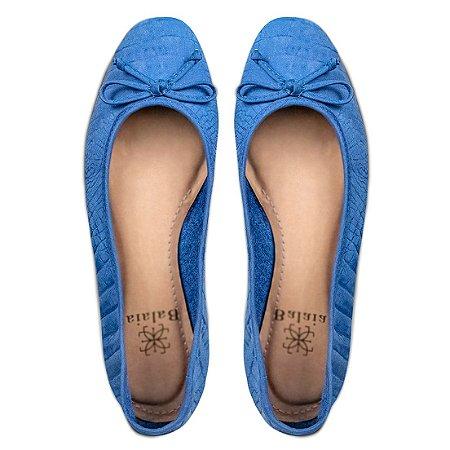 Sapatilha Balaia MOD504 em couro Azul