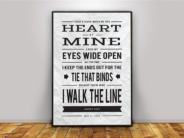 Poster Johnny Cash - I Walk the Line