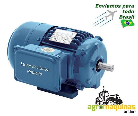 Motor Eletrico 5cv - Blindado Baixa Rotacao - Bifasico 220/440