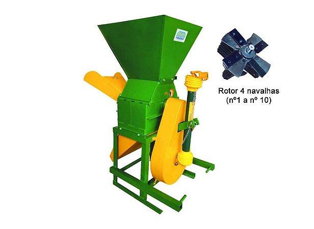 Triturador Picador Forrageiro Maqtron M-10000 T para Trator com Cardan