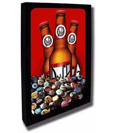 Quadro Porta Tampinhas de Cerveja Tamanho 30cm X 40cm