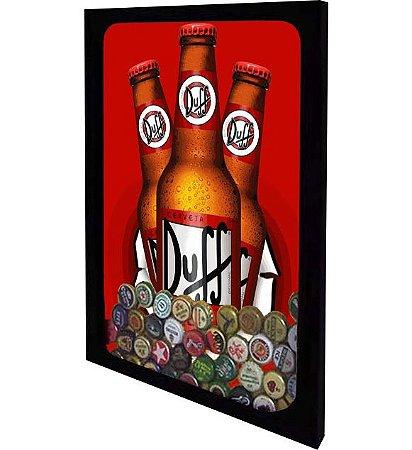"""Quadro Porta Tampinhas de Cerveja """"Slim"""" Tamanho 42cm X 55cm"""