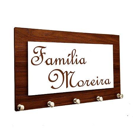 Porta Chaves e Cartas Personalizado com Nome da Família