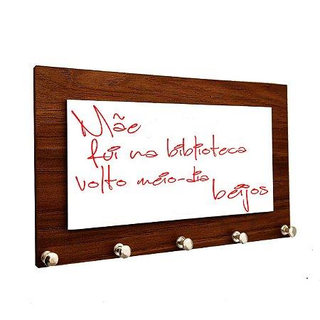 Porta Chaves e Cartas Personalizado com Lousa para Escrever Recados