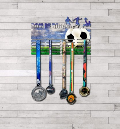 "Porta Medalhas ""Futebol"" Masculino"