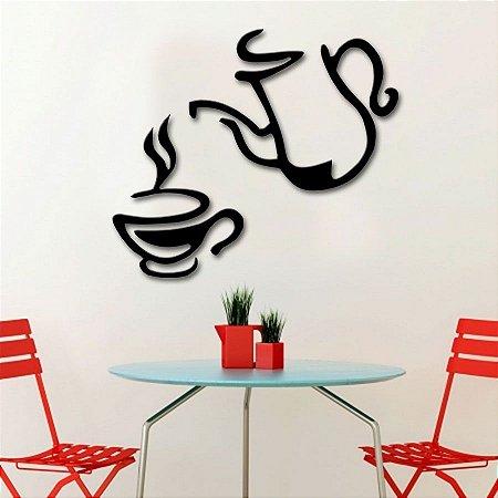 Adesivo de Parede 3D - Alto Relevo - Café