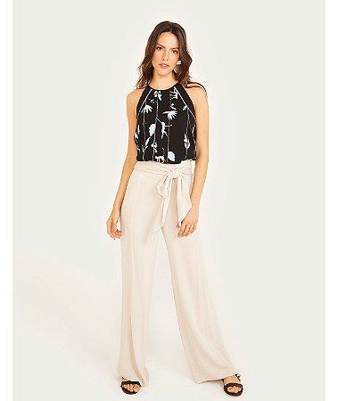 c0a8a21d524b Calça Pantalona Faixa - Paragrapho Modas - Especializada em Moda ...