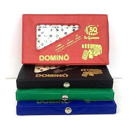 Jogo de Domino no Estojo de Plastico - Domino Osso 7,5 mm - SQ3440