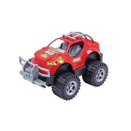 Carrinho Pick-Up Off Road 4×4 Rally com Fricção - 23 cm - Ref.344 -  BS Toys