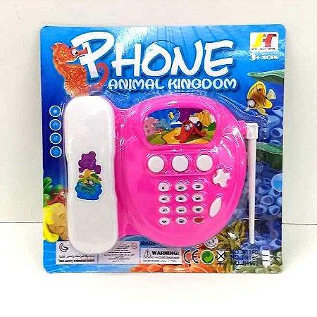 Telefone de brinuedo a pilha com base e SOM - AB7307