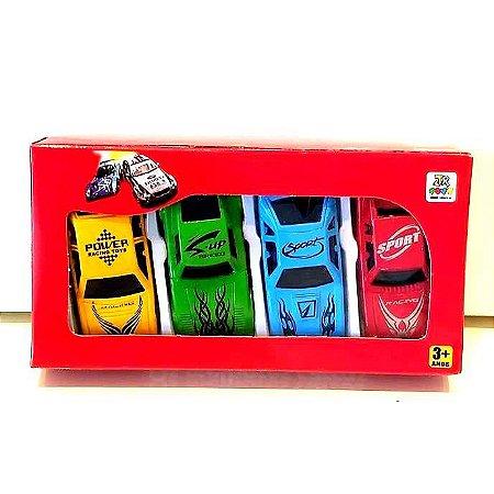 Carrinhos Miniatura kit com 4 pecas JR0065