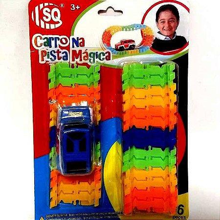 Carro na Pista Magica - brinquedo de montar com 56 pecas - SQ3531
