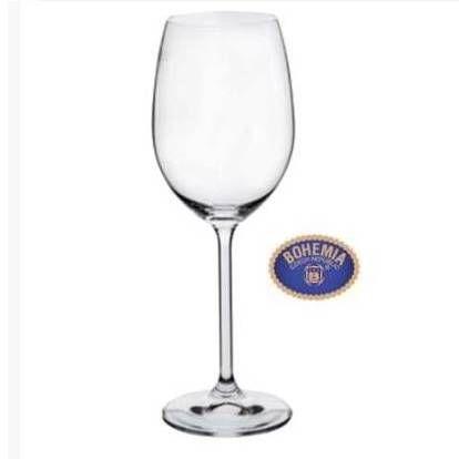 Jogo de Tacas de Cristal Bohemia - Modelo For Your Home - Agua 450 ml - jogo com 6 tacas