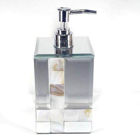 Porta Sabonete Liquido Espelhado com Madreperola - Ref.KV0050 - BTC