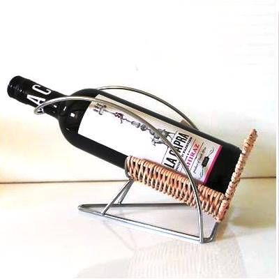 Porta Vinho em Rattan com Aluminio - JB1009 - DayHome