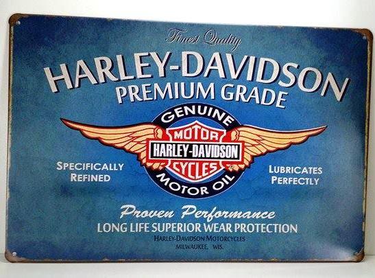 Placa Quadro de Metal Harley-Davidson Premium Grade  - 30 x 20 cm