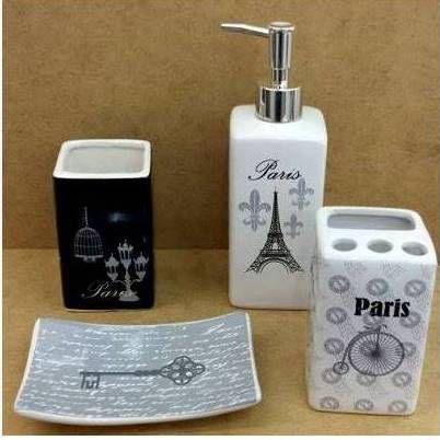 Jogo de Banheiro em ceramica - Paris - com 4pc - Ref.308- Susan
