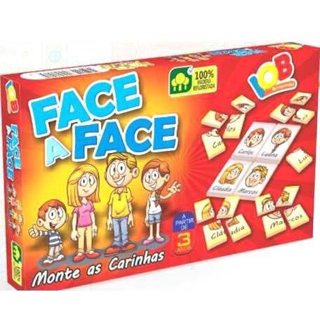 Jogo Pedagogico Brinquedo Educativo - Face a Face - REf.11