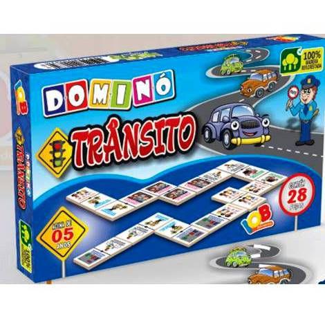 Jogo Pedagogico Brinquedo Educativo - Domino Transito - Ref. 63