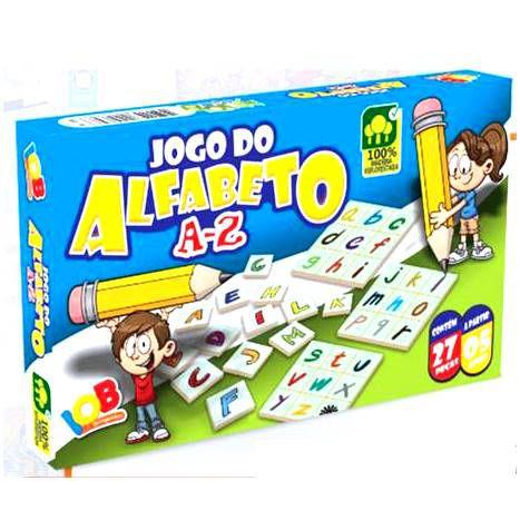 Jogo Pedagogico Brinquedo Educativo - Jogo do Alfabeto  - A a Z - Ref. 69