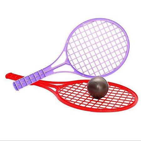 Jogo de Raquete de Tenis plastica com bolinha - Ref.337S - Amar E