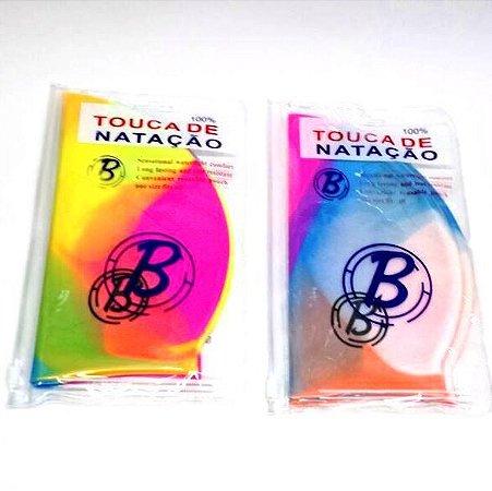 Touca de Natação em Silicone - Colorida - BJ1402
