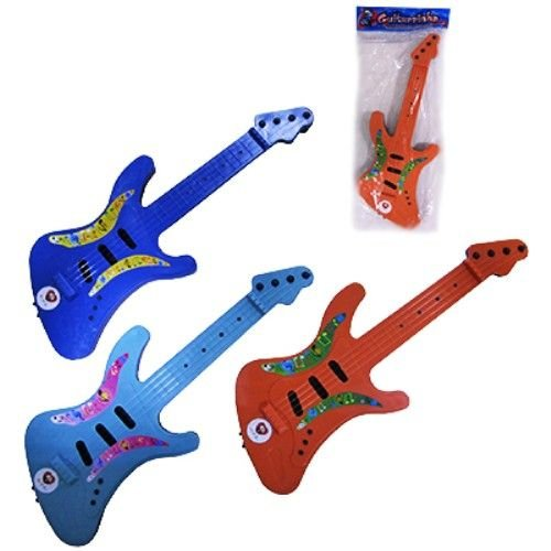 Guitarra Plastica Infantil de brinquedos - GUITARRINHA - Varias Cores - 40 cm - Ref.356