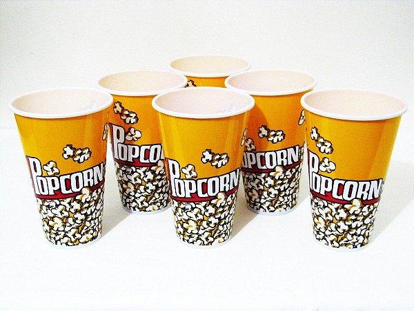 Pote de Pipoca Plastico Popcorn PEQUENO - Gubly0239 - 18 cm altura