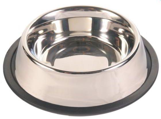 Comedouro de inox para animais - linha pet - cao e gato - GRANDE - 26 cm - 3726 - Kehome