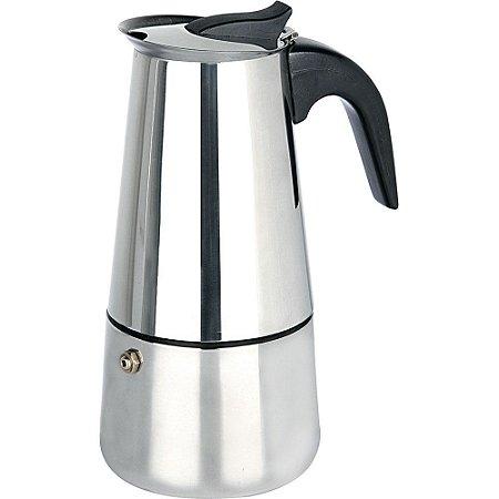 Cafeteira Italiana em Inox LUXO - para 6 cafés e para 9 cafés - 001-6 e 001-9