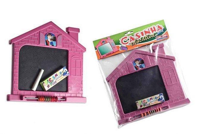 Lousa Infantil Casinha Educativa com giz - Plasbrink - 0273