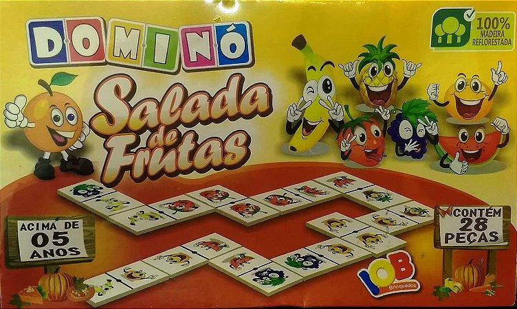 Jogo Pedagogico Brinquedo Educativo DOMINO SALADA DE FRUTAS Ref.04