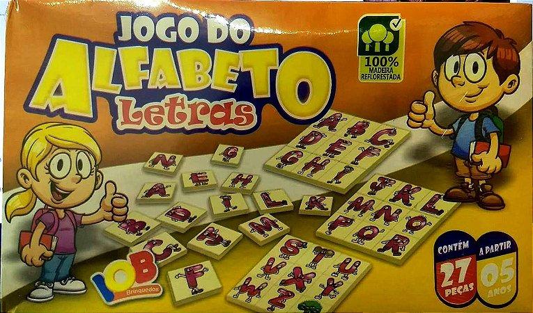 Jogo Pedagogico Brinquedo Educativo JOGO DO ALFABETO LETRAS - IOB MADEIRAS  Ref.06