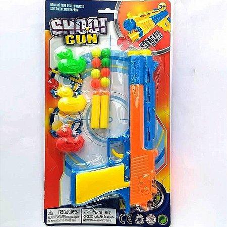 Pistola Lancador de Dardos e Bolinhas SHOOT GUN ref GN65019