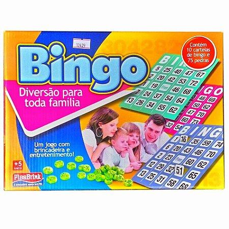 Jogo de Bingo Plasbrink com 10 Cartelas e 75 Pedras - Ref.0259