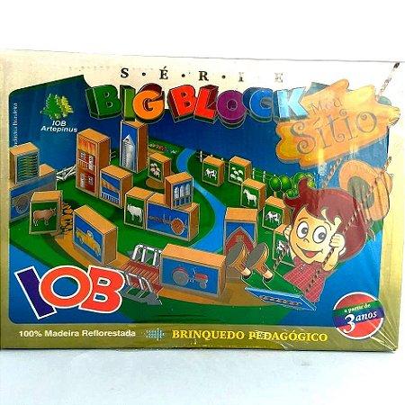 Jogo Pedagogico Brinquedo Educativo - Big Block Meu Sitio  - IOB Madeira
