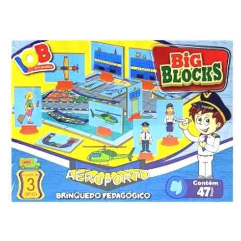 Jogo Pedagogico Brinquedo Educativo - Big Blocks AEROPORTO - IOB Madeira Ref.14