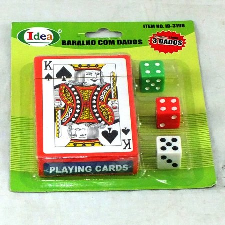 Jogo de Baralho com Dados IDEA - ID319B