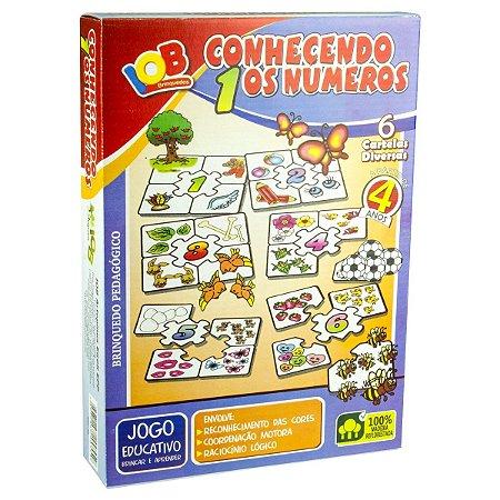 Jogo Pedagogico Brinquedo Educativo  - Conhecendo os Numeros - Brinquedo Didatico de Madeira IOB  Ref.163