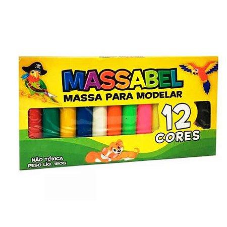 Massa para modelar- Massinha MASSABEL com 12 cores - Ref.5065