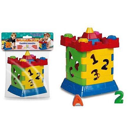 Jogo Pedagogico de Encaixe - Brinquedo Educativo Castelinho Interativo Didatico - Diviplast 120