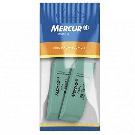 Borracha verde escolar CLEAN MERCUR - Kit com 2  borrachas verde CLEAN MERCUR 1320