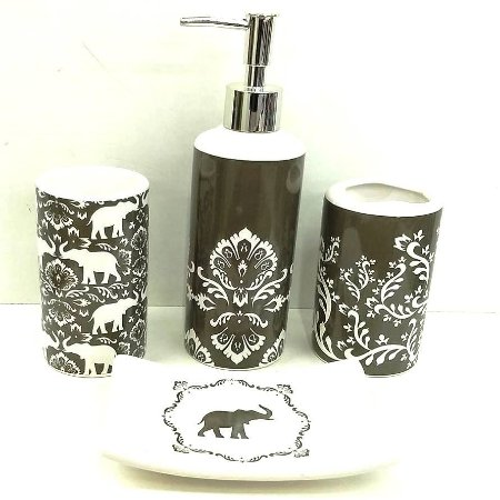 Jogo de Banheiro em ceramica - India - com 4pc - Ref.325 - Susan